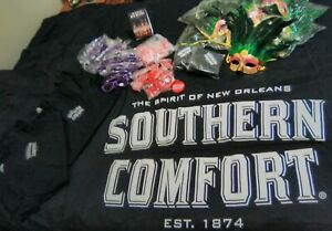 Southern Comfort new year's Mardi Gras Party Kit Lot Masquerade t-shirts new