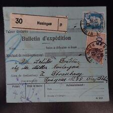 COLIS (PACCHI) POSTALI NEWSLETTER D'SPEDIZIONE ALSACE LORRAINE HUNINGUE CAD 1927