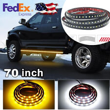 2pc 70-Inch Truck Light Running Board LED Extended Cab Crew AMBER/WHITE Pickup