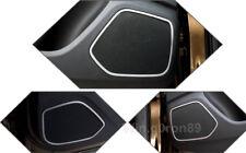 For Audi Q3 2012 - 2017 Stainless Steel Interior Door Speaker Cover Trim 4pcs