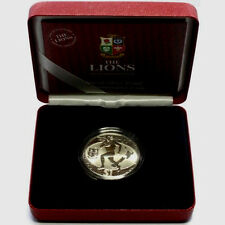 2005 RUGBY LIONS LEAGUE SILVER PROOF COIN NEW ZEALAND: