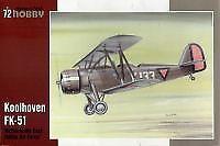 Special Hobby 1/72 Koolhoven FK-51 Indias Orientales Neerlandesas # 72175