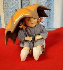 Hummel Porcelain Doll Girl With Umbrella