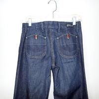 Citizens Humanity Cadet Jeans Low Waist Wide Leg Stretch Sz 28 pants b1
