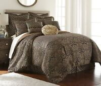 Valencia 9-piece Floral Jacquard Oversized Comforter Set or Curtain Set