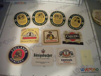 Lote 10 Posavasos Cerveza Todos Diferentes - Beer Coasters Profi-Mats