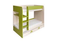 Arrow New Bunk Bed Childrens kids bedroom furniture green beige design unusual
