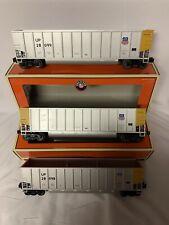 ✅LIONEL UNION PACIFIC ROTARY BATHTUB GONDOLA COAL HOPPER 3 CAR SET! 6-17447 UP