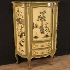Venetian cupboard furniture gold lacquered painted wood antique style commode