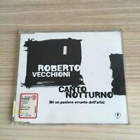 Roberto Vecchioni - Canto Notturno - CD Single PROMO - Emi 1997