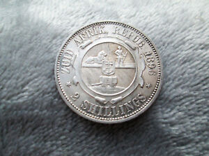 AUNC 1896 SOUTH AFRICA TWO SHILLINGS