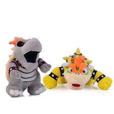 Set of 2 Super Mario Bros King Bowser and Dry Bowser Bones 10 inch Plush Toy