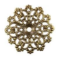 20 Deko-Ornament Verzierungen Schutzecken Scrapbooking, 60x60x4mm, antik bronze