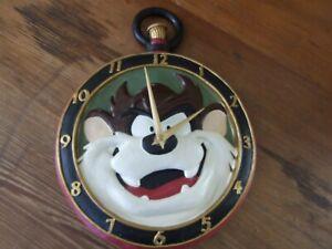 Rare Warner Bros Tasmanian Devil pocket watch design resin Wall Clock