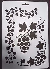 A4 Wall Stencil Reusable Template Grape Vine Ivy Leaves Home Decor Craft Mask