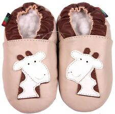 shoeszoo giraffe cream 12-18m S soft sole leather baby shoes