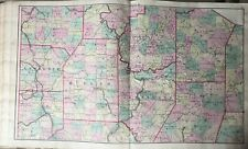 1871 PENNSYLVANIA BUTLER LAWRENCE MERCER BEAVER JEFFERSON CLARION ATLAS MAP