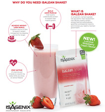 Free Post Isagenix 2x Strawberry Cream IsaLean Shake Packets - 70%OFF SALE