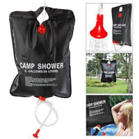 20L Solar Heated Shower Bathing Water Bag Outdoor Camping Foldable PVC Reserve H