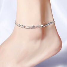 Little Star Anklet Silver Plated Chain Women Girl Ankle Bracelet Jewelry Gift 1X