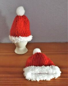 Hand knitted egg cosy. Pack of 2. CUTE STOCKING FIILLER.