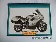 CARTE FICHE MOTO TRIUMPH TROPHY 1200   1999