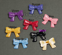 U PICK - 22 mm Bow Shaped Shank Button Crafts Dolls Trims Invitation Cards #4006