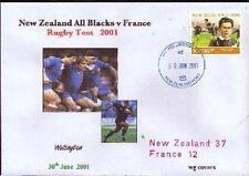 NEW ZEALAND 30.6.01 RUGBY COMM COVER WG - New Zealand v France With Illustration