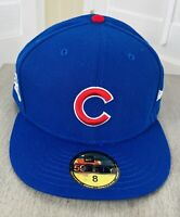 New Era Chicago Cubs 59Fifty Fitted Hat/Cap Size 8, 2016 World Series Champions