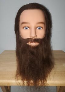 Mr. Magnum 14108 Bearded Male Mannequin Head Cosmetology Training Human Hair