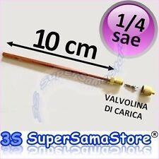 """3S VALVOLA DI SERVIZIO 1/4"""" 100 mm GAS R22 R407c R134a PER CLIMATIZZATORE FRIGO"""