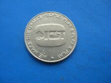 (10C) WE MAKE THE GAMES PEOPLE PLAY & PLAY & PLAY SILVER COLOURED TOKEN COIN