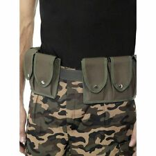 FANCY DRESS ARMY BELT, AMMO BELT, RAMBO POUCH BELT ADULT SIZE