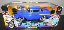 MUSCLE MACHINES 1:18 Scale Limited Edition 57 CHEVY Blue 71165