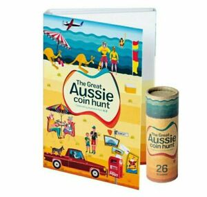 The Great Aussie Coin Hunt A-Z Folder + 26 $1 Unopened Coin Roll
