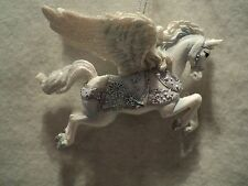 """KSA Frosted Kingdom """"SILVER AND BLUE PEGASUS""""  Ornament  ~  NEW"""