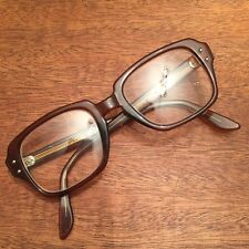 1ba8b6c690 Vintage USS KEYHOLE Brown Plastic Glasses Eyeglass Frame Hipster 50 20 4.5  5.75