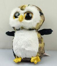 "6"" TY Camo Owl Beanie Boos Plush Stuffed Animals Girl Toys Doll"