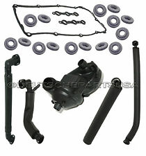 PCV CRANKCASE VENT VALVE BREATHER HOSE COLD WEATHER Kit + COVER GASKET for BMW
