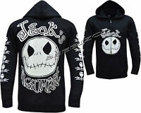 Jack Nightmare Before Christmas NBC Glow In the Dark Zip Zipped Hoodie Jacket