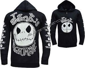 Jack Nightmare Before Christmas NBC Glow In the Dark Zip Zipped Hoodie Jacket