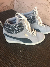 PUMA SNEAKERS GRISE ET CAMOUFLAGE TBE  T39 DAIM