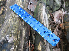 """NEW Ruger 10/22 reversable extended PICATINNY SCOPE RAIL 3/8"""" height in BLUE"""