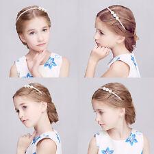 Baby Girl Kids Pearl Beads Headband Head Wear Tiara Hair Band Hair Head.Pop