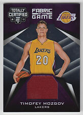 TIMOFEY MOZGOV 2016-17 Panini Totally Certified Fabric of the Game JERSEY Lakers