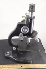 Vintage Ernst Leitz Wetzlar Microscope Heavy Cast Iron Lab Science Syracuse Univ