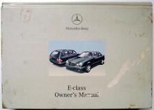 MERCEDES BENZ E-CLASS - Original Car Owners Manual- Jan 2000 #210 584 92 83
