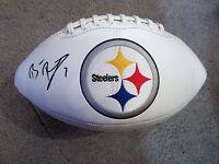 BEN ROETHLISBERGER Pittsburgh Steelers Autographed SIGNED Logo Football BAS COA