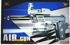Laser Air Sports Gun Toy For kids 1:1 REAL SCALE + Extra 6 pcs Battery for Laser