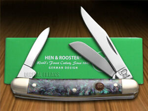 Hen & Rooster Small Stockman Knife Imitation Abalone Pocket 303-IAB